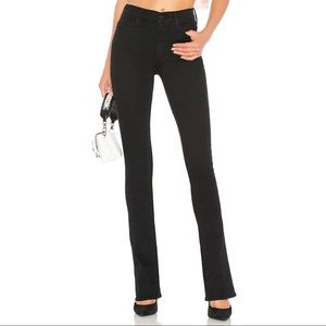 Mother Runaway Skinny Flare Jean Black 29 x 33